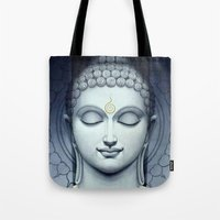 buddah Tote Bags featuring BUDDAH by I Love Decor