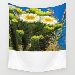 Saguaro Flower Power Wall Tapestry