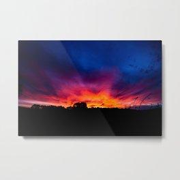 Sunset, Rural Australia. Metal Print