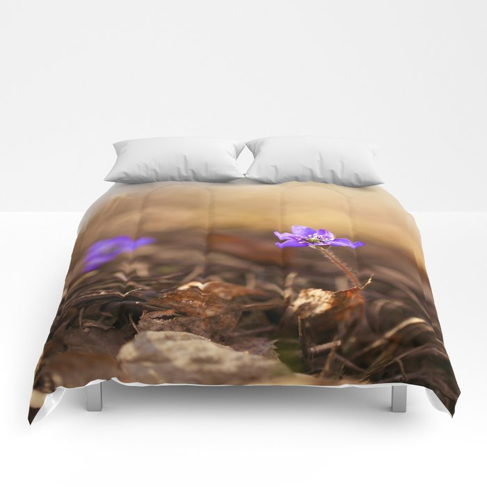 Come with me  Hepatica Forest #decor #society6 Comforters
