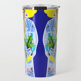 Faces on Her Dress Travel Mug
