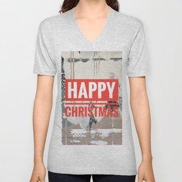 Snowfall - Happy Christmas Unisex V-Neck