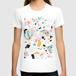 Mixed Mess I. / Collage, Terrazzo, Colorful T-shirt