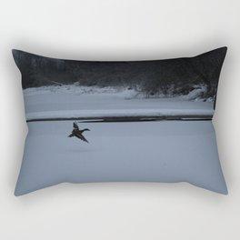Duck in snow Rectangular Pillow