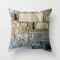 The Missing Brick Throw Pillow