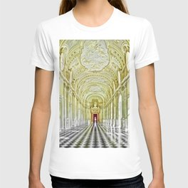 Gallery of Diana, Royal Palace of Venaria Reale, Turin Italy Portrait Painting by Jeanpaul Ferro T-shirt