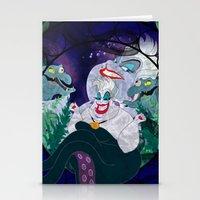 ursula Stationery Cards featuring Ursula by Mazuki Arts