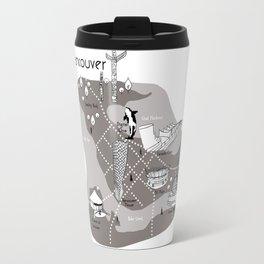 Mapping Vancouver - Grey Travel Mug