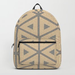 Textured Tile Triangle Pattern Design Backpack