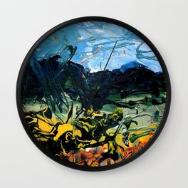 Poetic Earth, Land and Its Surface Wall Clock