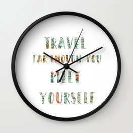 TRAVEL Wall Clock