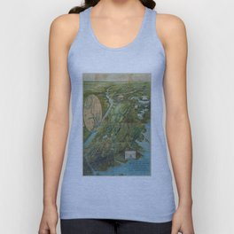 Vintage Map of the Bronx NY (1915) Unisex Tank Top
