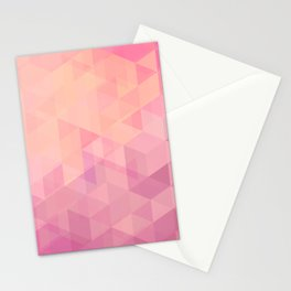 Geometric Pink  Stationery Cards