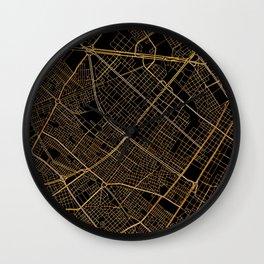 Bogota map, Colombia Wall Clock