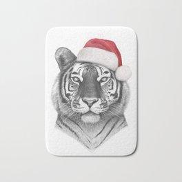 Christmas Tiger Bath Mat