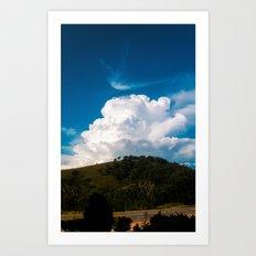 Explosion Cloud Art Print
