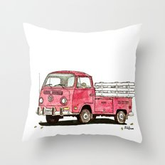 red rider Throw Pillow