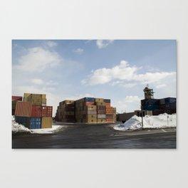Pointe St. Charles Shipping Yard Canvas Print