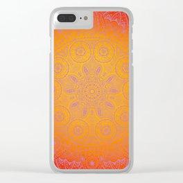 Sunshine Mandala Purple Clear iPhone Case