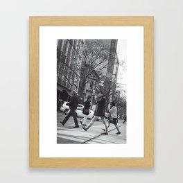 Crossing the Boulevard Framed Art Print