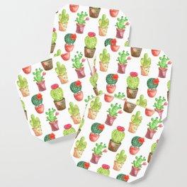 Watercolor prickly cacti in pots Coaster
