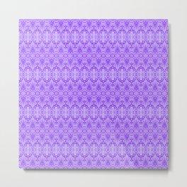 Lavender Damask Pattern Metal Print
