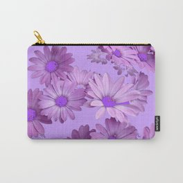 Pinkish Lilac Color Purple Daisy Flowers Garden Carry-All Pouch