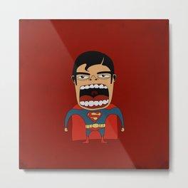 Screaming Superdude Metal Print