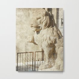 Kansas City Plaza Lion Metal Print