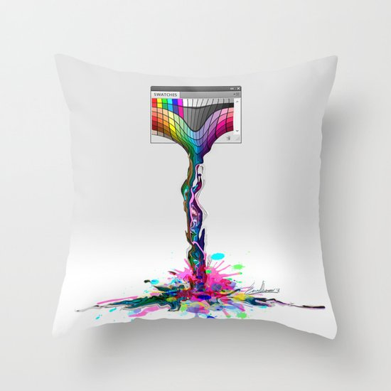 No more paintings, Photoshop it's broken! Throw Pillow
