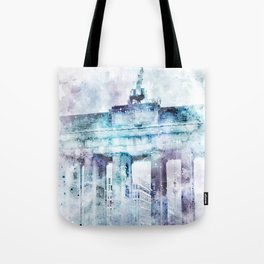 Modern Art BERLIN Brandenburg Gate   jazzy watercolor Tote Bag