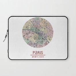 PARIS FRANCE - city poster - city map poster print Laptop Sleeve