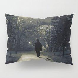 winter walk; morning commute Pillow Sham