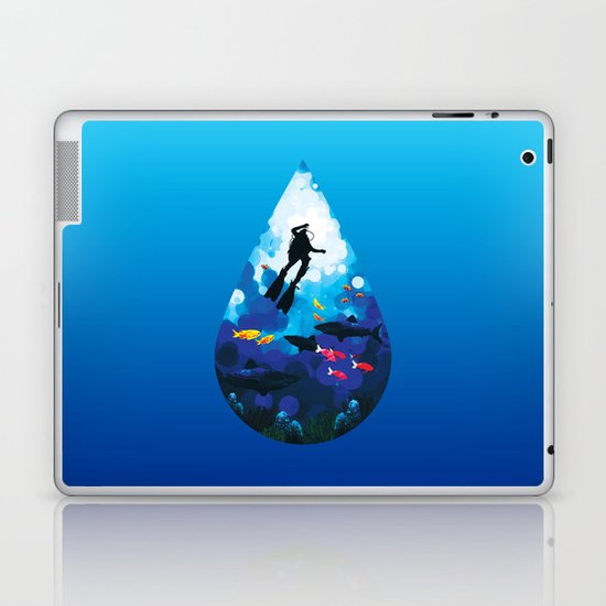 Diver of the Blue Laptop & iPad Skin