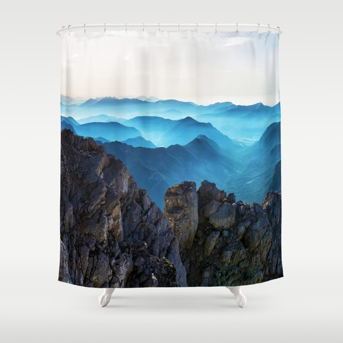Mountains Breathe Too Shower Curtain