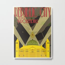 Republic City Metal Print