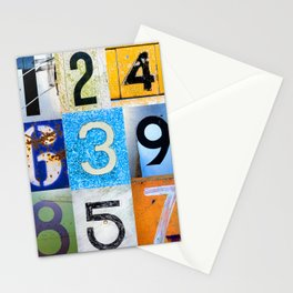 1,2,3,4,5,6,7,8,9 All The Numbers! Stationery Cards