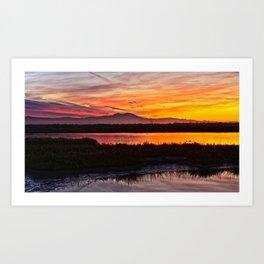 Painted Skies Bolsa Chica Wetlands Art Print