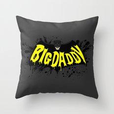 Big Daddy Splash logo Throw Pillow