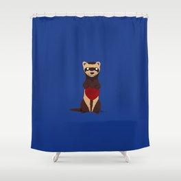 Lovely Ferret Shower Curtain