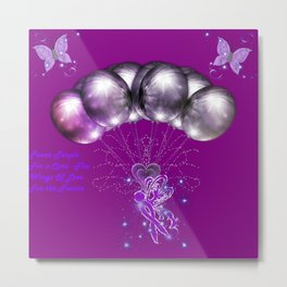 Power Purple For a Cure - The Wings of Love For the Future Metal Print