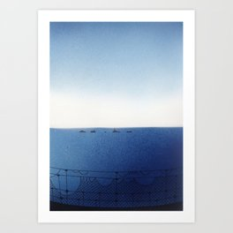 Lands End Rope Bridge Art Print