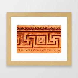 Carved stone Framed Art Print