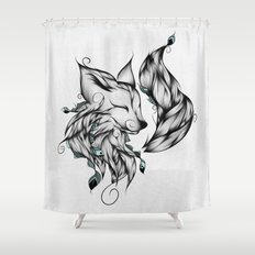 Fox B&W  Shower Curtain