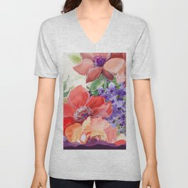 fall bouquet Unisex V-Neck