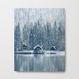 Winter's Cottage (Color) Metal Print