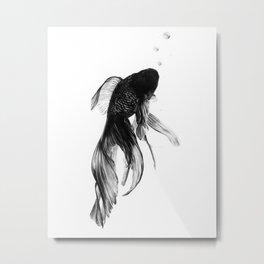Black Moor Goldfish Metal Print