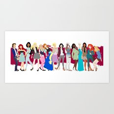Modern Princesses Art Print