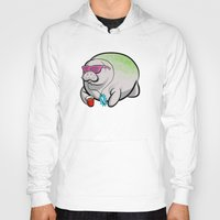 manatee Hoodies featuring Party Manatee by Theo Nicole Lorenz