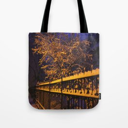 Chicago in Snow: Branches and Fences (Chicago Winter Collection) Tote Bag